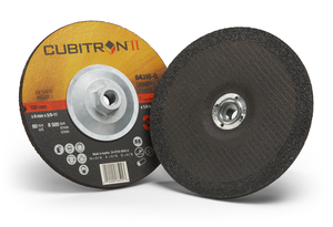 20-Pk 3M Cubitron II Depressed Center Grinding Wheel, 64319, T27 Quick Change, 7 In X 1/4 In X 5/8-11 In