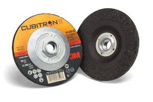20-Pk 3M Cubitron II Depressed Center Grinding Wheel, 64317, T27 Quick Change, 5 In X 1/4 In X 5/8-11 In