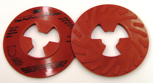10-Pk 3M Disc Pad Face Plate Ribbed 81732, 5 In Extra Hard Red