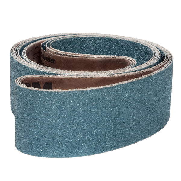 50-Pk VSM Zirconia Better Performance Cloth Belt ZK713X 1/4 Inch x 24 Inch 80 Grit X-Weight Backing