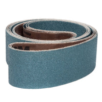 50-Pk VSM Zirconia Better Performance Cloth Belt ZK713X 1/4 Inch x 18 Inch 100 Grit X-Weight Backing