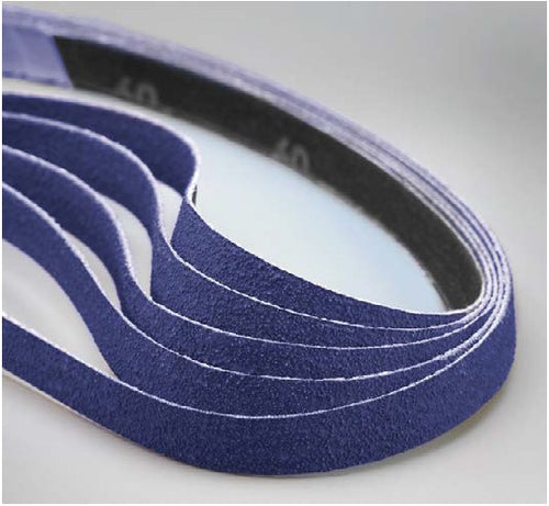 50-Pk Norton Bluefire Zirconia 887D 1/2 In x 24 In 100 Cloth Belt