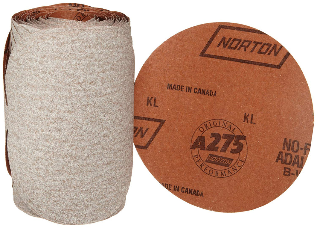 1 ROLL / Norton PSA No-Fil Paper Disc Roll A275, 6 in x NH, P80 B-Weight