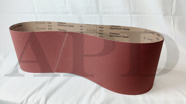 50-Pk VSM Aluminum Oxide Performance Cloth Belt KK752X 1/4 Inch X 24 Inch 320 Grit X-Weight Backing