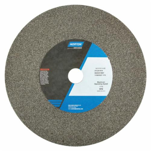 Norton 14 x 2 x 1-1/2 37C24-RVK Surface Grinding Wheel/Includes Plastic Nested Bushing 1-1/4,1 Type 1 #66253319967