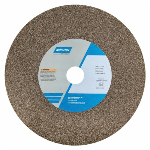 Norton 14 x 2 x 1-1/2 57A24-QVBE Surface Grinding Wheel/Includes Plastic Nested Bushing 1-1/4,1 Type 1 #66253319972