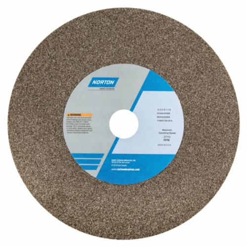 Norton 14 x 3 x 1-1/2 57A36-OVBE Surface Grinding Wheel/Includes Plastic Nested Bushing 1-1/4,1 Type 1 #66253319977