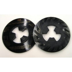 10-Pk 3M Disc Pad Face Plate Ribbed 81733, 5 In Hard Black