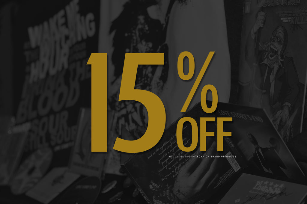 15% Off - Black Friday thru New Year's Day