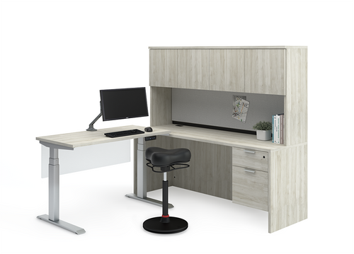 Heartwood Height Adjustable Workstation | Layout 46