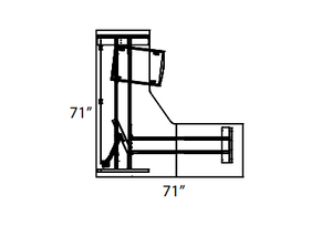 Heartland Height Adjustable Workstation | Layout 61