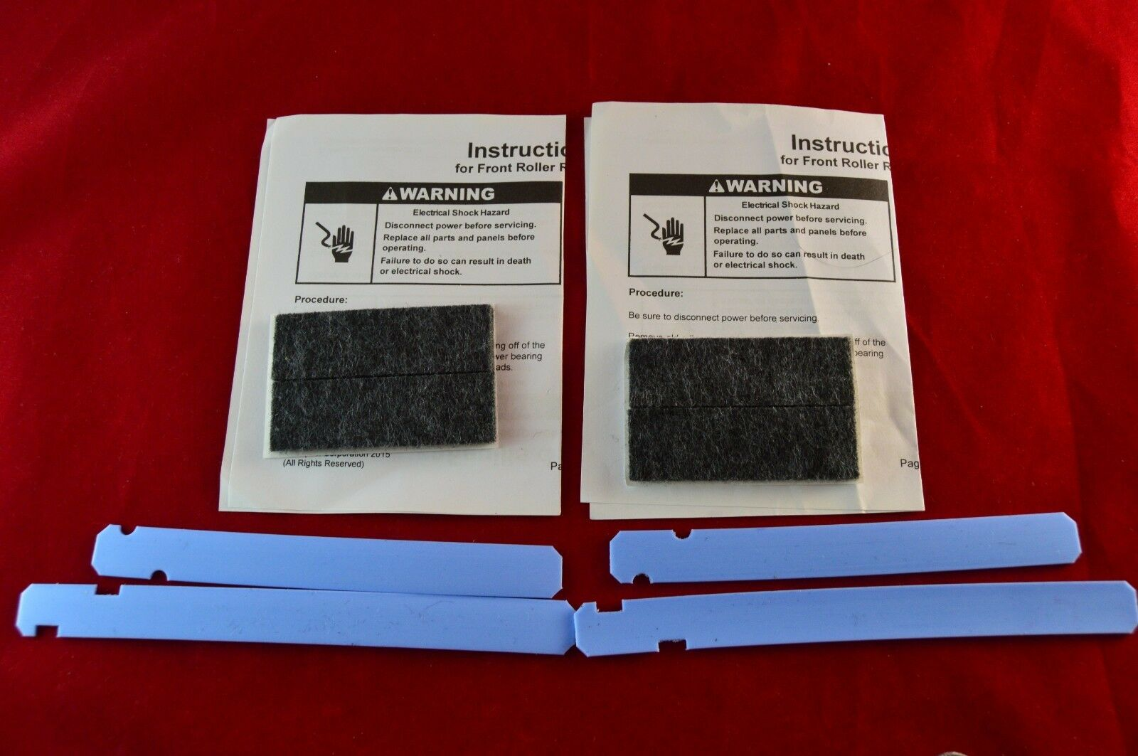 12002126 Admiral Magic Chef Dryer Front Glide Pad Kit PS2003584 New 2 Pack