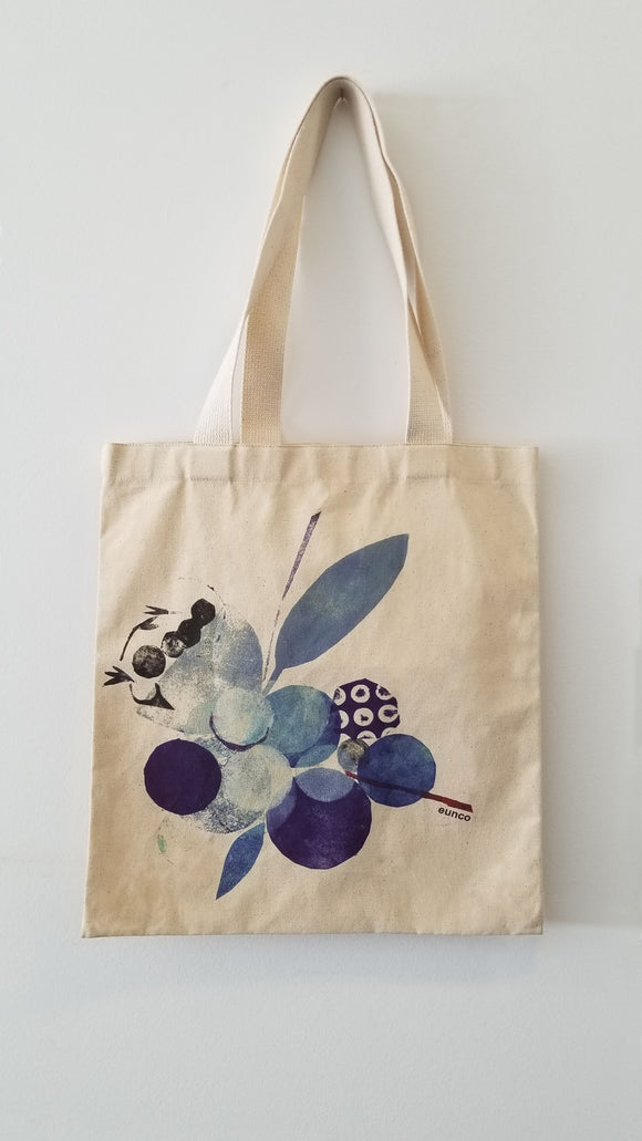 Tote Bag, Blue Bloom