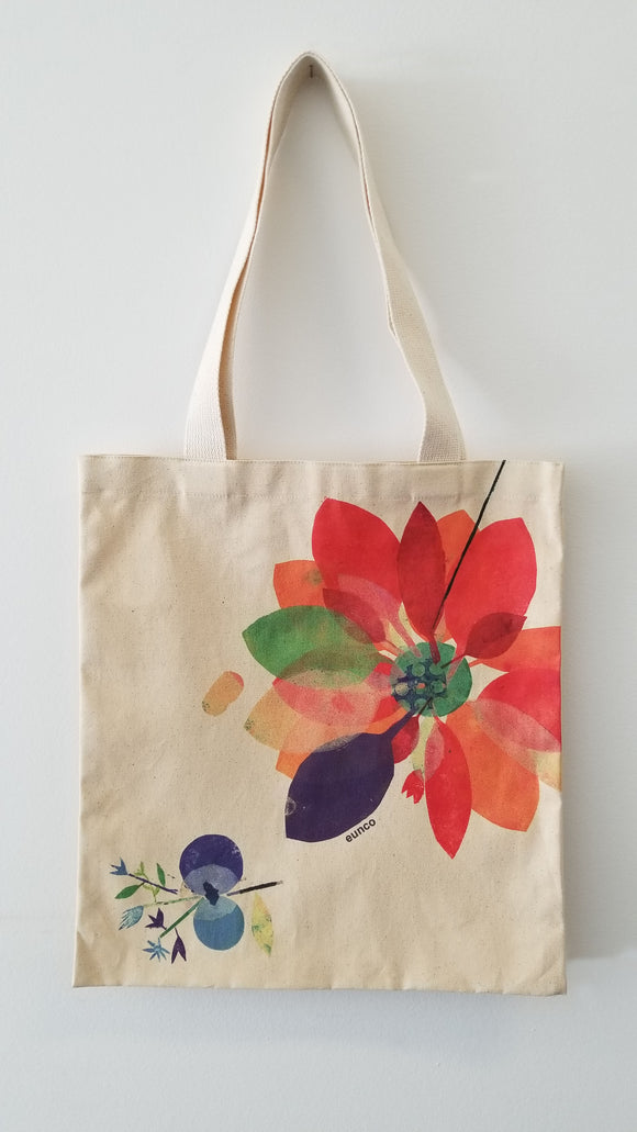 Tote Bag, Orange Bloom