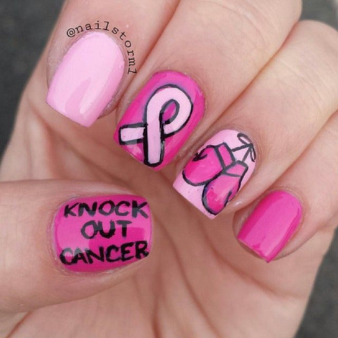 Breast Cancer Awareness Month Fighting To The Nail Glamup Gloves