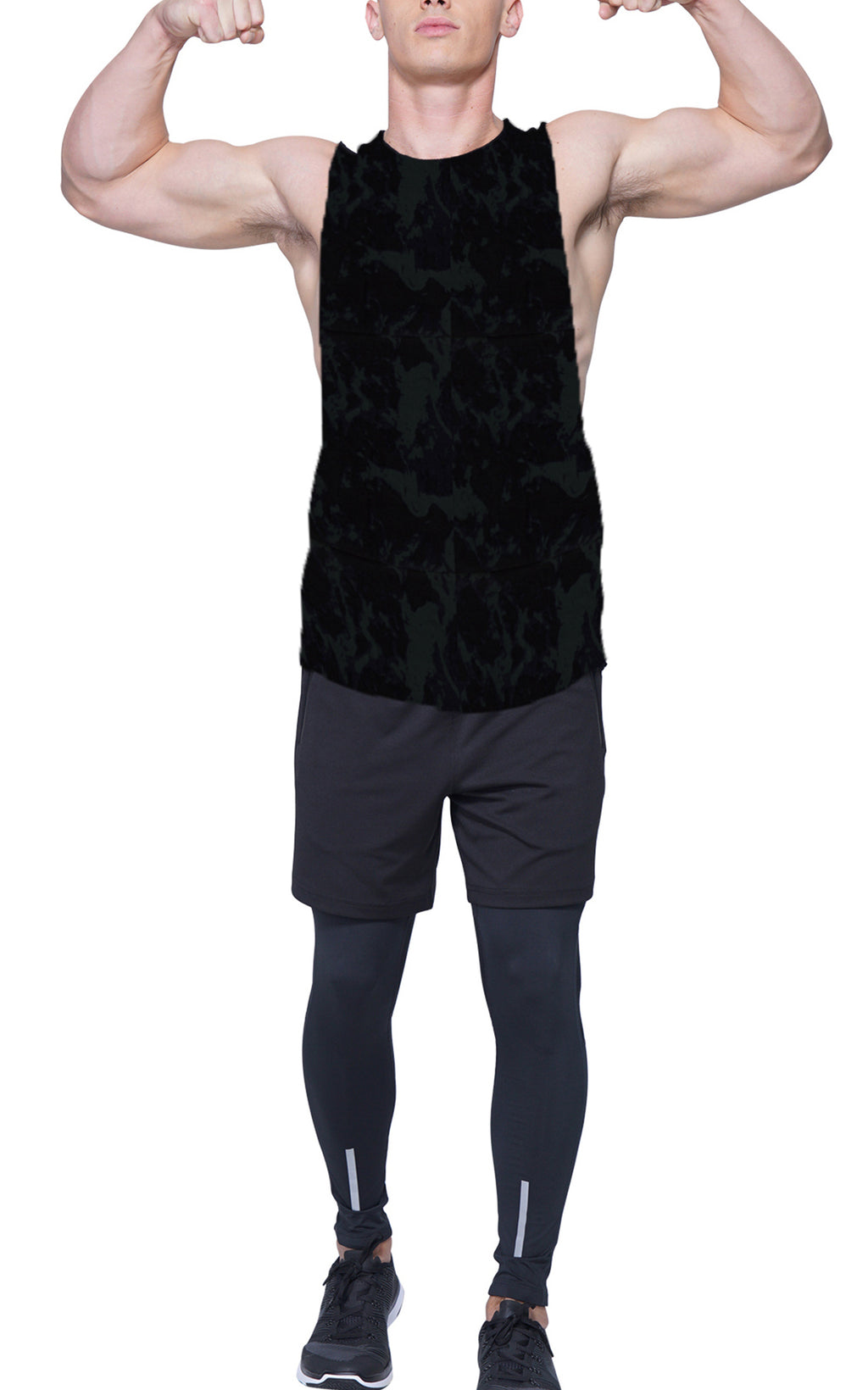 Forest Camo Gym Cut-Off