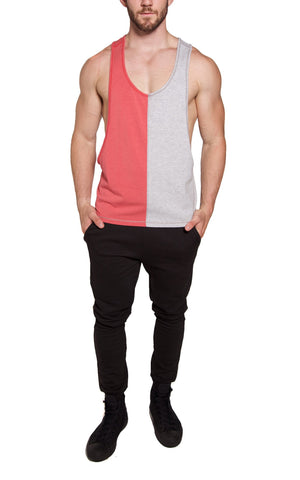 Low-Cut Color Block Tank | Green