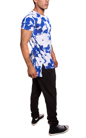Abstract Floral Tee | Blue