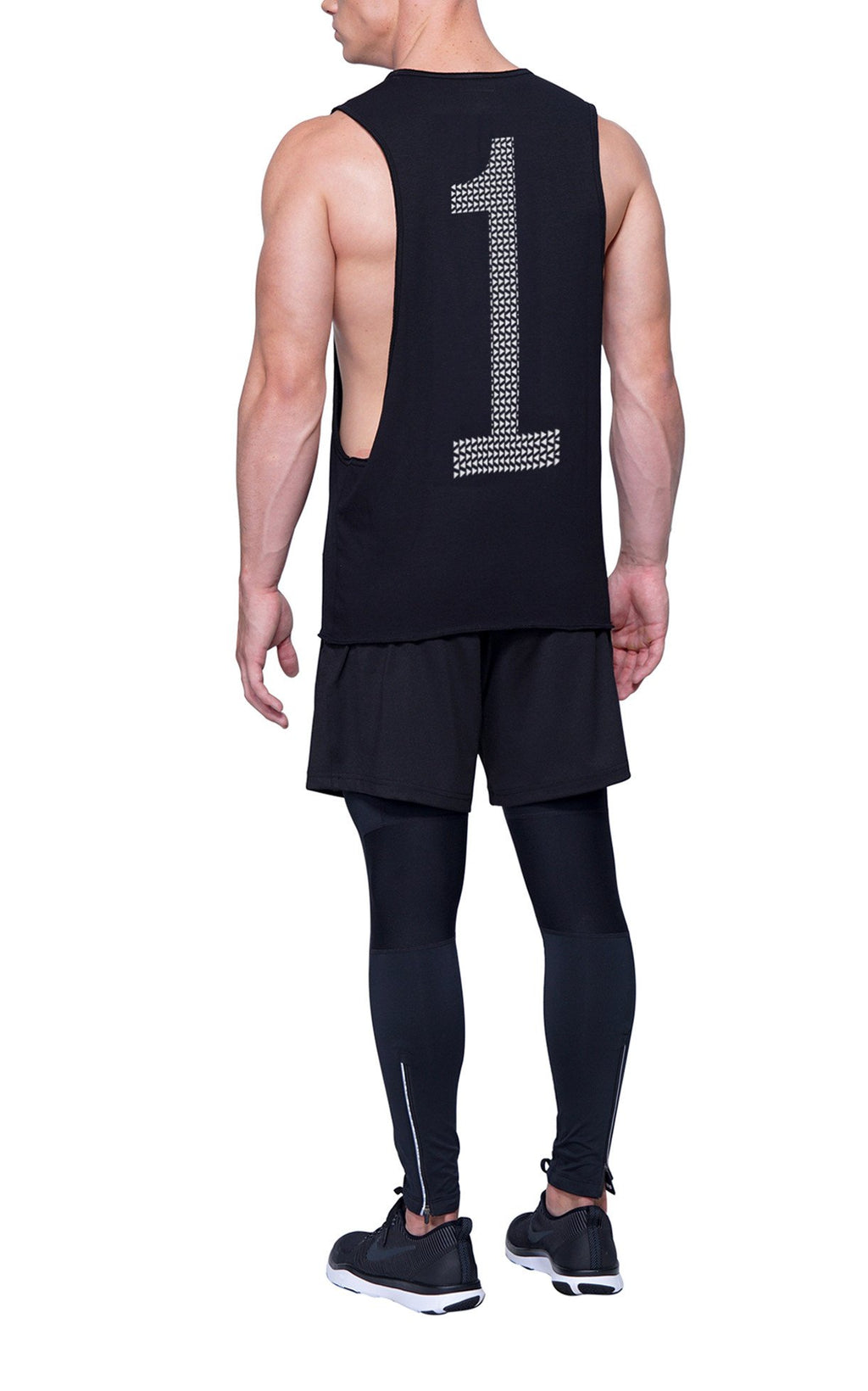 Triangle Pattern Number 1 Gym Cut-Off | Black