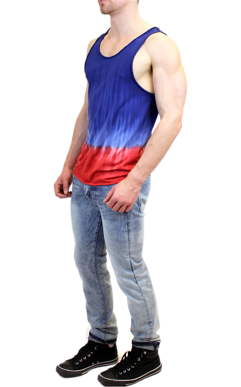 Two Color Dip-Dye Tank | Blue