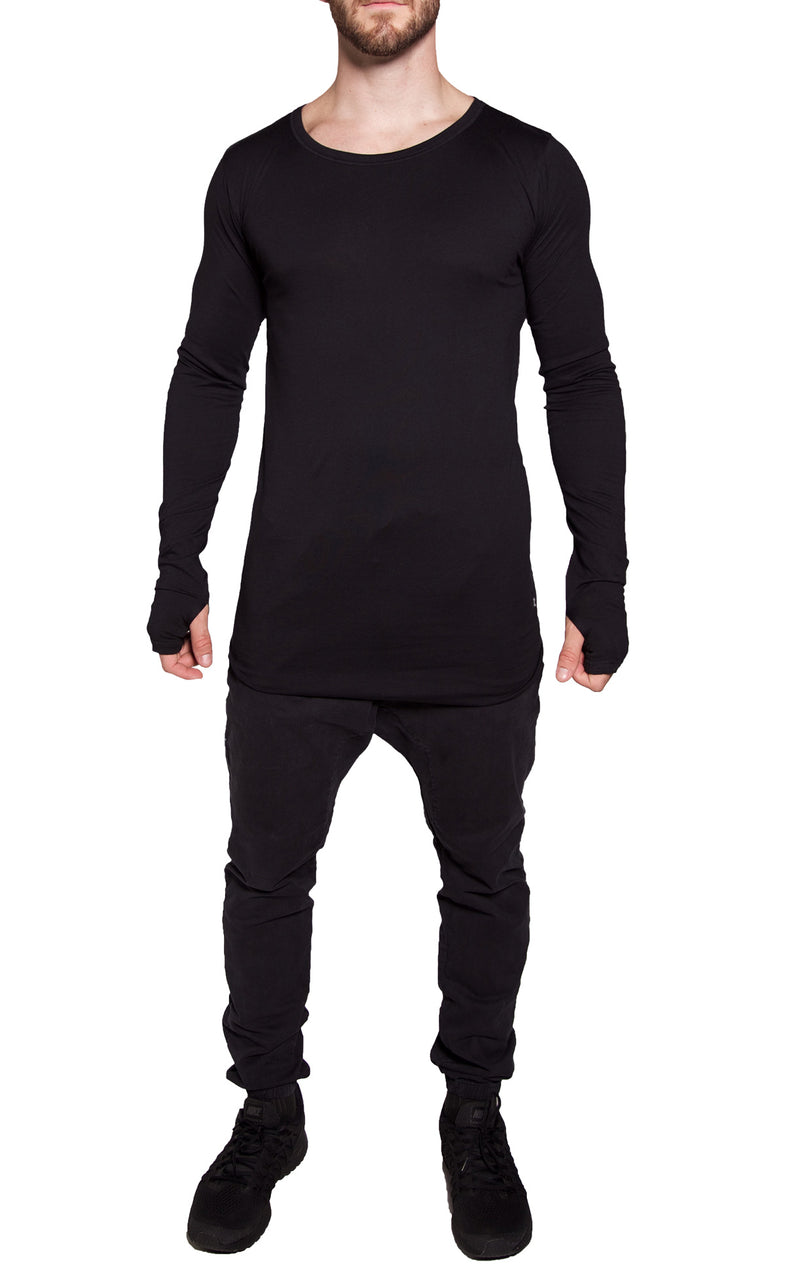 Core Long Sleeve Tee | Pitch Black