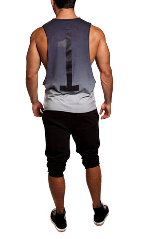 Dip-Dye Ultimate Gym Cut-Off | Athletic Gray