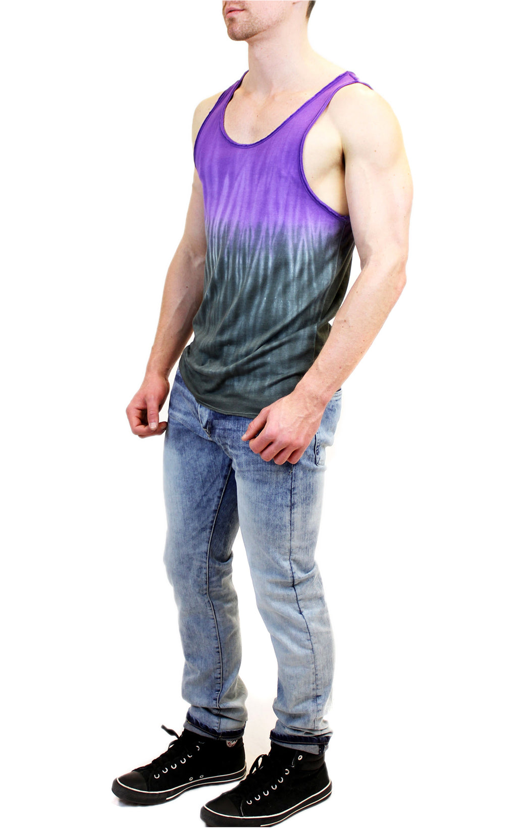 Two Color Dip-Dye Tank | Dark Purple