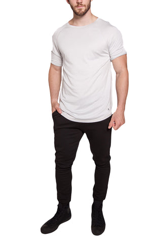 3/4 Sleeve Long Raglan Tee | Stone White