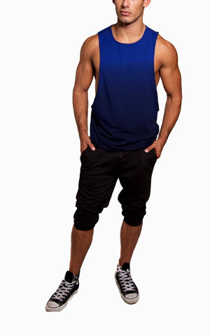 Dip-Dye Ultimate Gym Cut-Off | Blue
