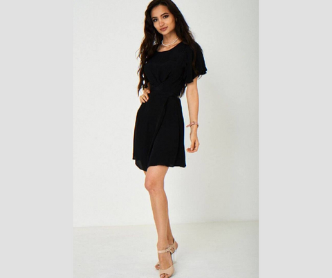 Black Round Neck Dress