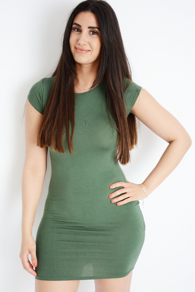 Green Jersey Bodycon Dress