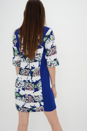 FRENCH CONNECTION FLORAL CREPE SHIFT DRESS
