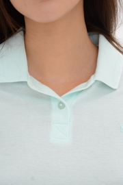 FRENCH CONNECTION MINT GREEN POLO TEE
