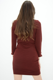 French Connection Berry Ribbed Jumper Dress