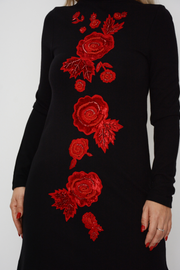 French Connection Black Poppy Embellished Bodycon Dress
