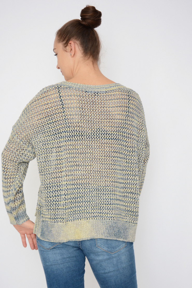 French Connection Shimmer Mesh Knit Lurex Jumper