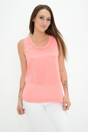 French Connection Pink Jersey Back Vest Top