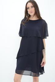 French Connection Navy Layered Shift Dress