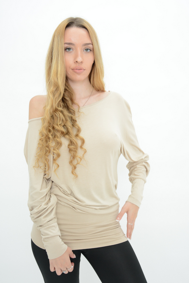Stone Longline Jersey Casual Top