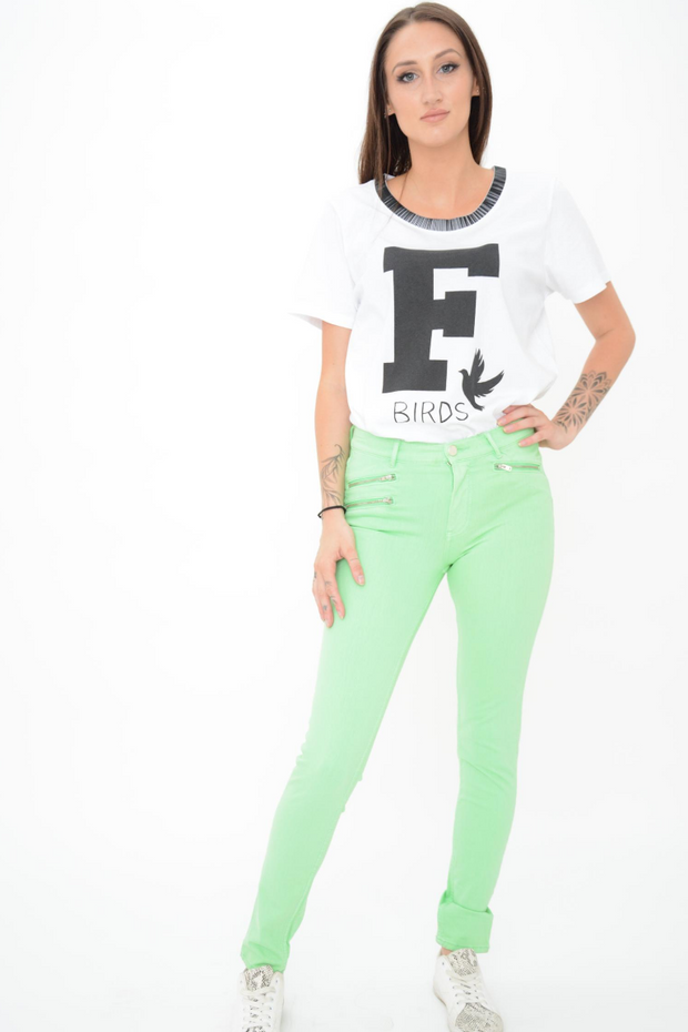 French Connection Lilly Mineral Green Super Skinny Stretchy Jeans