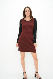 FRENCH CONNECTION PLUM TEXTURED DRESS