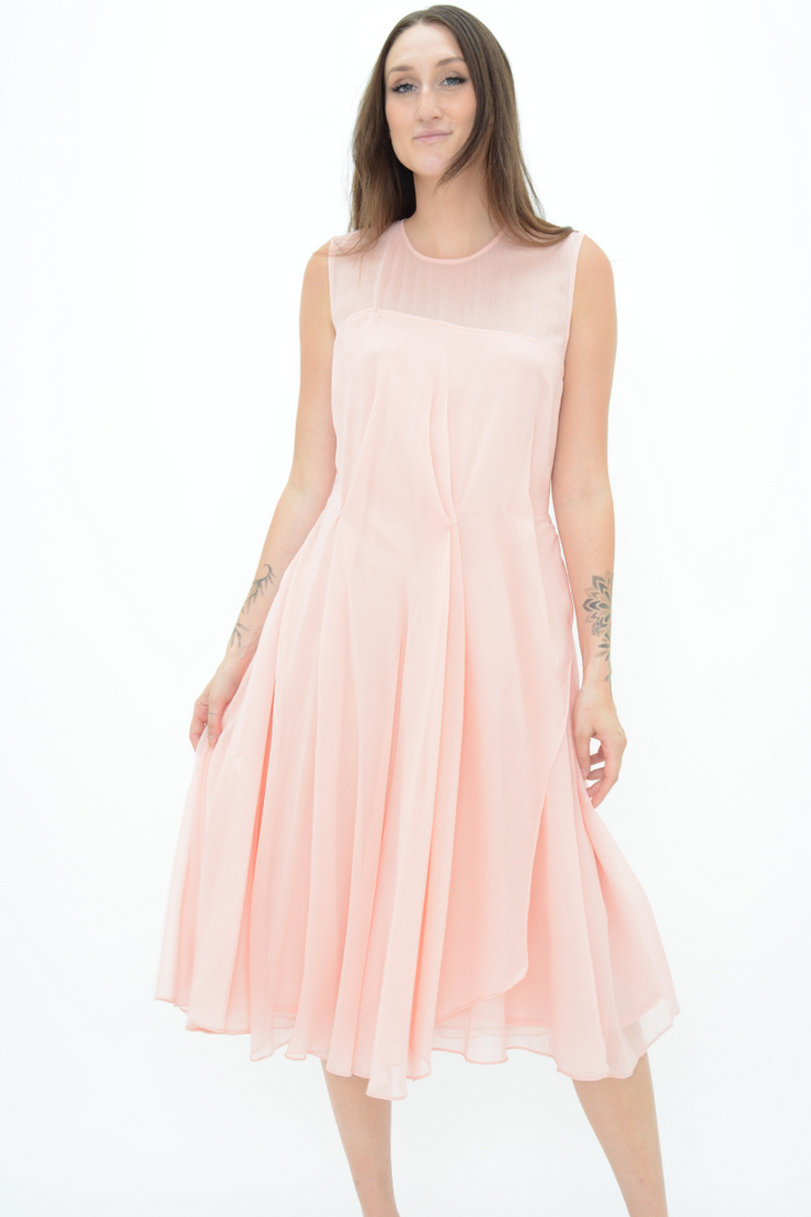 French Connection Rose Chiffon Flared Midi Dress