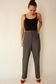 Grey Straight Leg Smart Suiting Trousers