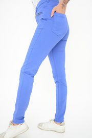 French Connection Lily Cobalt Zip Super Skinny Jeans