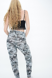 Camouflage Print Tracksuit Bottoms