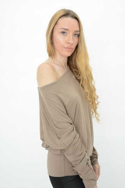 Chocolate Jersey Longline Casual Top