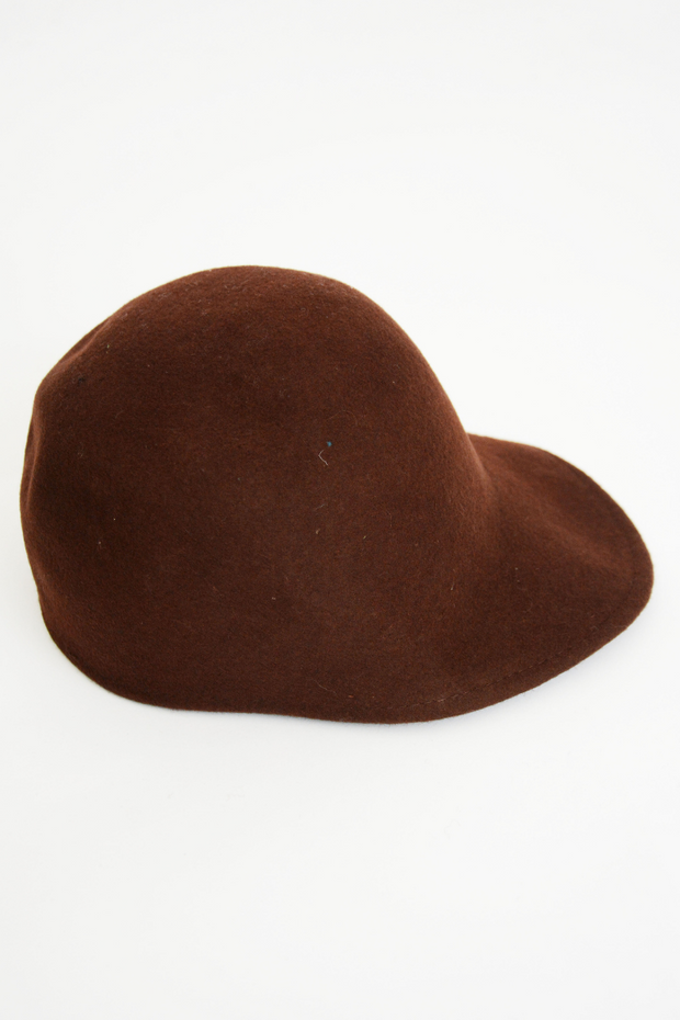 Brown Wool Cap Hat