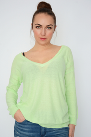 French Connection Apple Green Fine Knit Lightweight Jumper