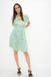 French Connection Marylin Self Tie Crepe Fit & Flared Dress