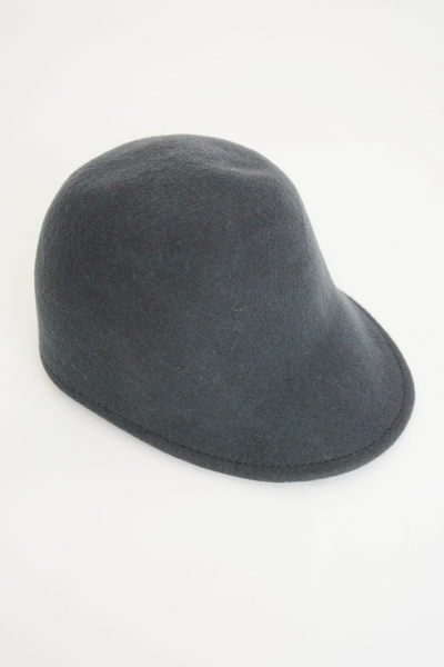 Grey Wool Cap Hat